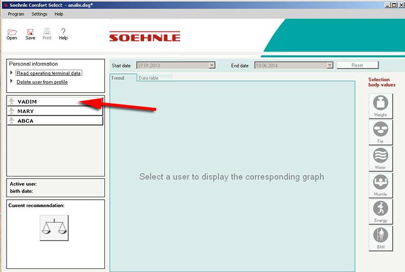 Выбор пользователя - Soehnle Comfort Select